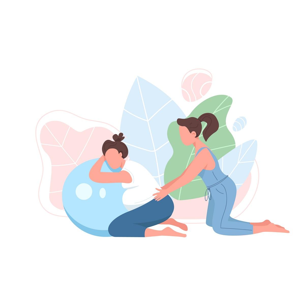 Podpora pri pôrode pôrodnou dulou. Dve ženy