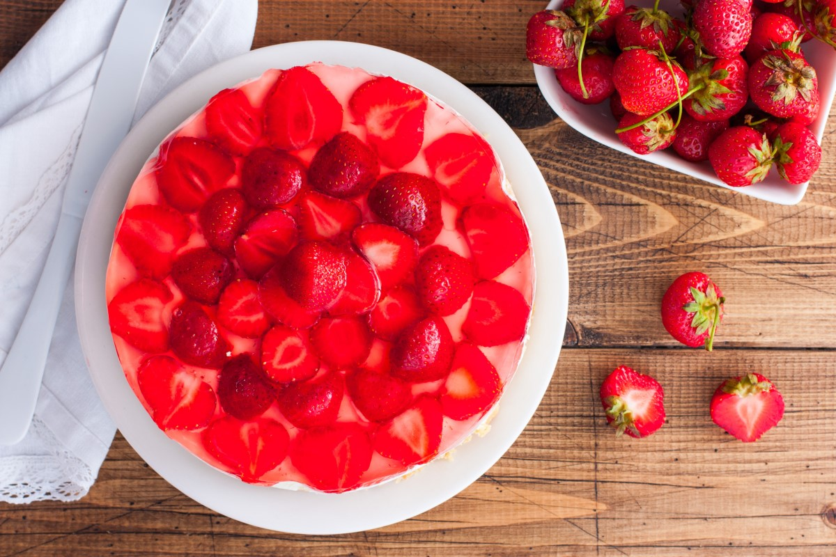 Recept na zdravý jahodový cheesecake s mascarpone