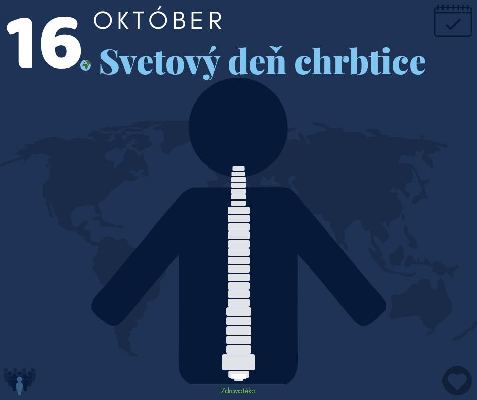 Svetový deň chrbtice - 16. októbra za zdravý chrbát