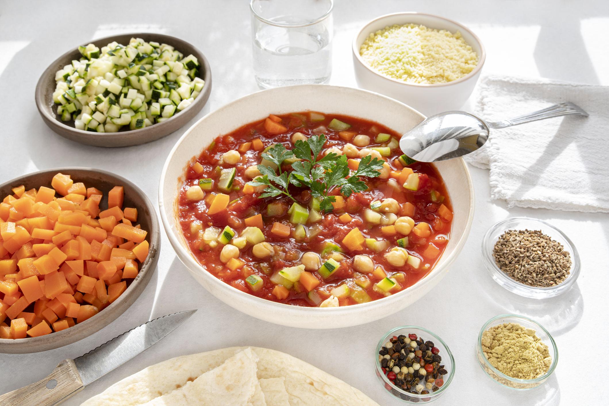 Zdravá cícerová polievka so zeleninkou, rýchly recept