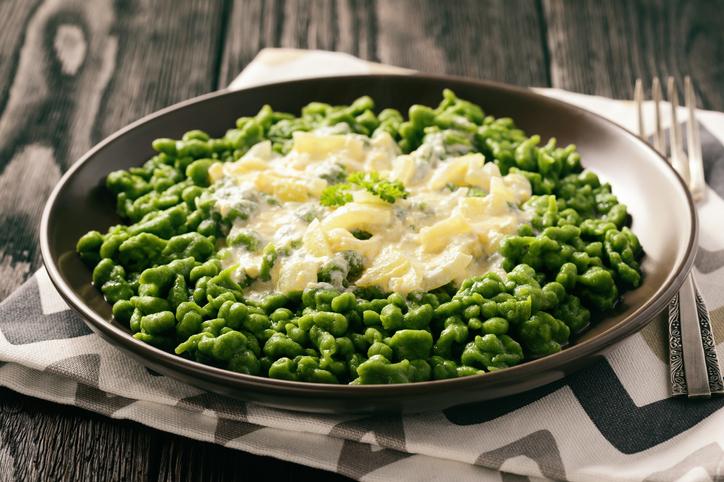 Zdravé špenátové halušky s bryndzou. Vyskúšajte tento recept