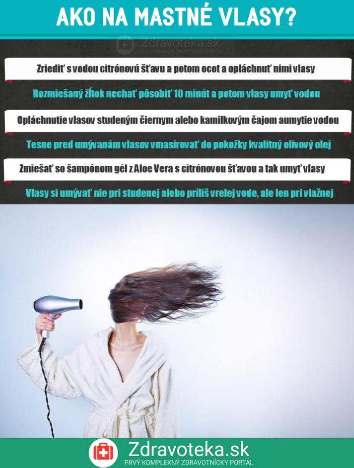 Ako na mastné vlasy